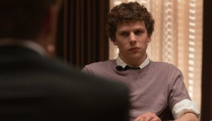 The great irony of this, of course: Jesse Eisenberg as an  billionaire who's kind of a dick? Who'd believe that?